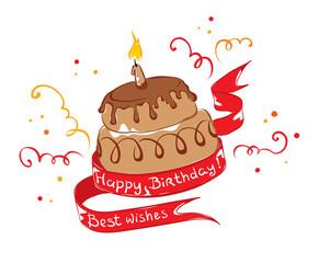 "Chocolate cake ""Happy Birthday"""