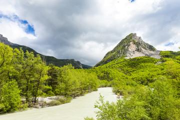 valley of river Verdon in spring, Provence, France