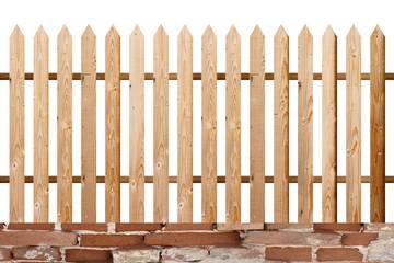 fir wood simple isolated fence