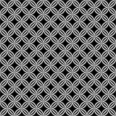 Motif géométrique noir et blanc.