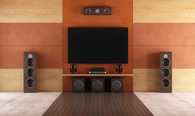 Modern home theater room Fototapete