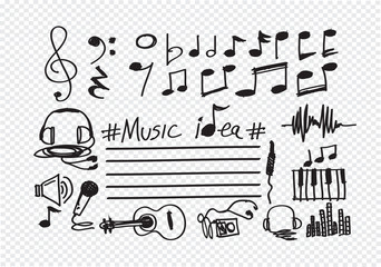 Music Notes and Music icons