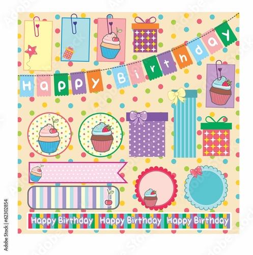 Заготовка для скрапбукинга открытки с днем рождения, снегом для