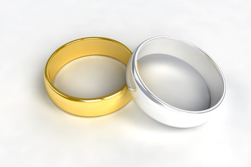 Wedding rings gold silver