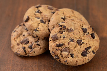 shortbread cookies with chocolate chips