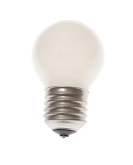 White Lamp, Isolated on the Background.