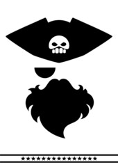 abstract pirate face