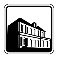 Logo maison ancienne.