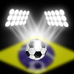soccer ball with spotlight