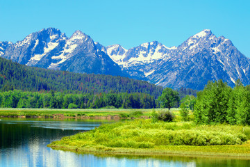 Wall Mural - Snake River and Grand Tetons