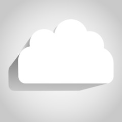 Cloud icon over white background