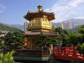 Golden pavilion in Hong Kong