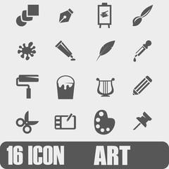 Vector Icon Art On white background