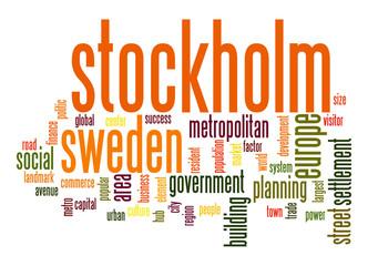 Stockholm word cloud