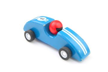 Blue toy race car