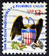 United States of America postage stamp shows American Bald Eagle