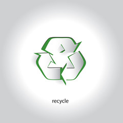 Vector Art Paper Icon Design Recycling Symbol