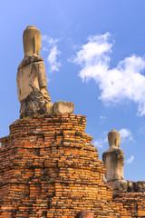 Ruin of seated buddha