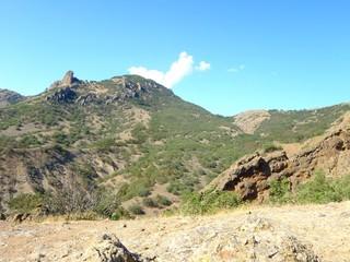 The extinct volcano Kara-Dag in Crimea