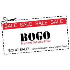 BOGO Buy One Get ne Free Sale Coupon