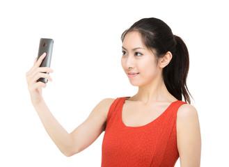 Asia wman selfie