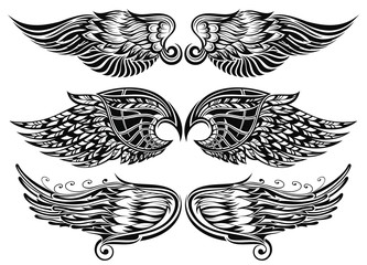 Wings tattoo design