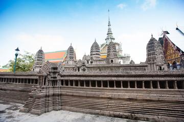 Miniature copy of Angkor Wat Temple in Grand Royal Palace, Bangk