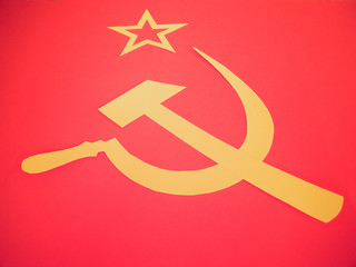 Retro look CCCP Flag