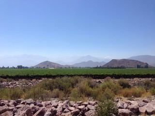 landscape from chile to argentin