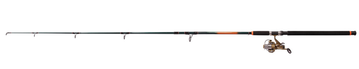 Tuinposter Vissen Spinning rod for fishing (Clipping path)