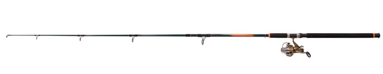 Printed kitchen splashbacks Fishing Spinning rod for fishing (Clipping path)