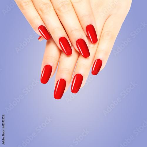 Rot lackierte Nägel Stockfotos und lizenzfreie Bilder