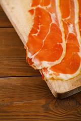 Platter of serrano ham jamon Cured Meat