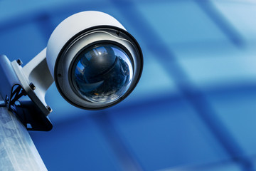 Fototapeta security camera and urban video obraz