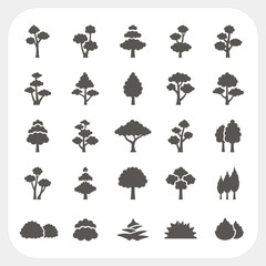 Tree icons set