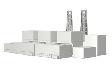 Architectural models of power plant