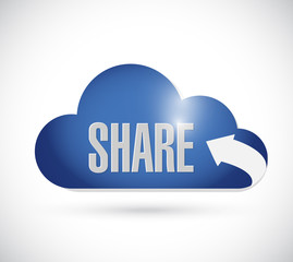 share cloud illustration design