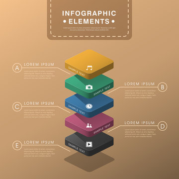 abstract layer chart infographics