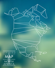 Stylized map of North America