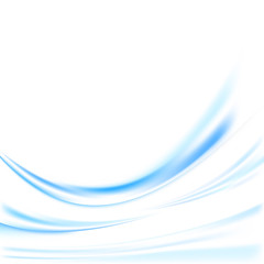 Futuristic blue swoosh lines background