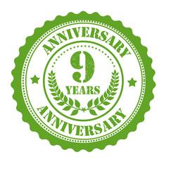 9 years anniversary stamp