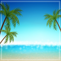 Vector Illustration of a Summer Background
