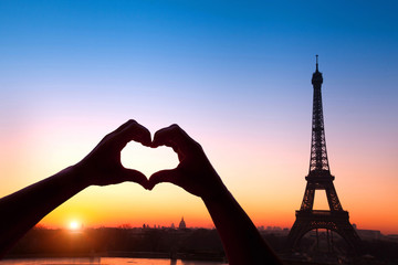 Printed roller blinds Paris honeymoon in Paris