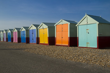 Seaside beach huts
