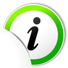 Vector paper information icon