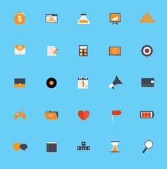 Set of Flat Icons Vector Illustration