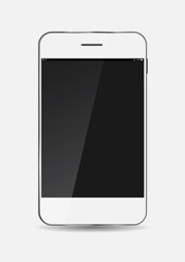 White Mobile Phone Vector Illustration