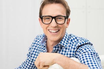 Young Man Wearing Eyeglasses