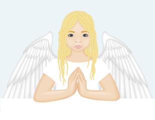 betender Engel / praying angel (illustration)