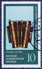Stamp from series devoted Museum of national musical instrument